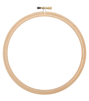 "7"" Wood Embroidery Hoop With Round Edges-"