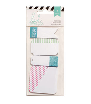 "Heidi Swapp Notepads 1""X2.5"" To 2.5""X2.5"" 4/Pkg-Color"