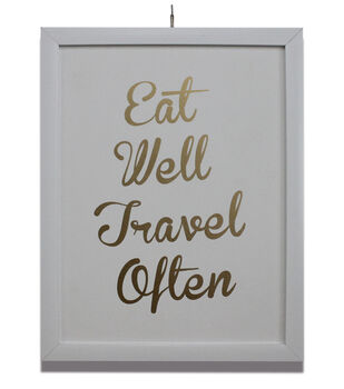 In The Garden Framed Printed Accent-Eat Well Travel Often