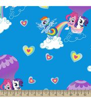 Hasbro® My Little Pony® Print Fabric-Pony Rainbows, , hi-res