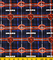 Chicago Bears NFL Plaid Flannel Fabric by Fabric Traditions, , hi-res