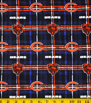 Chicago Bears NFL Plaid Flannel Fabric by Fabric Traditions