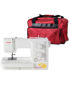 Janome Magnolia 7318 Sewing Machine & Free Red Sewing Machine Tote