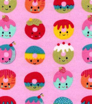 Snuggle Flannel Fabric-Happy Doughnuts