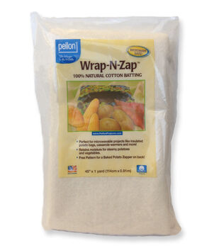 "Pellon Wrap-N-Zap Cotton Batting 45""x1yd"