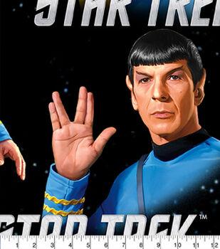 Star Trek Fleece Fabric- Classic Kirk Spock