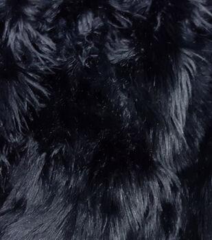 Fashion Faux Fur Fabric-Black Husky