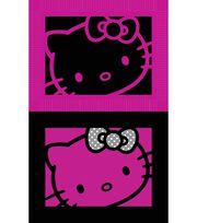 """Sanrio Hello Kitty 48"""" 2 Sided Face No Sew Fleece Throw, , hi-res"""