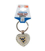 West Virginia University NCAA Heart Keychain, , hi-res