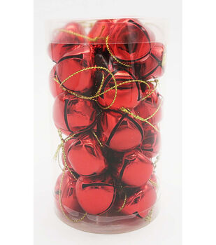 Maker's Holiday 30ct Small Jingle Bells-Red