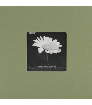 """Book Cloth Cover Postbound Album With Window 8""""X8""""-Herbal Green"""