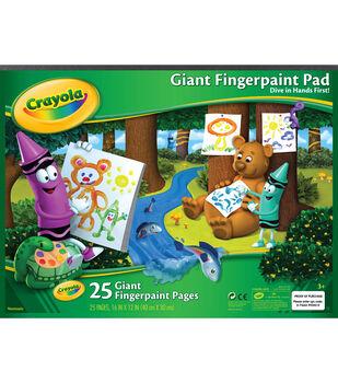 "Crayola Giant Fingerpaint Paper Pad 16""X12""-25 Sheets"