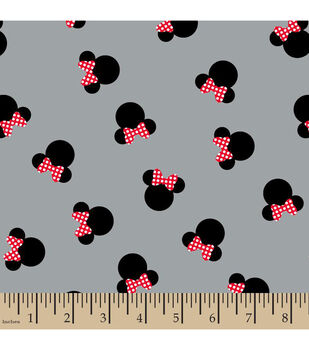 Disney® Minnie Mouse Heads Cotton Fabric