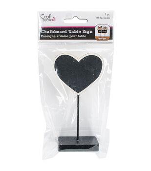 Craft Decor Chalkboard Table Sign-Heart