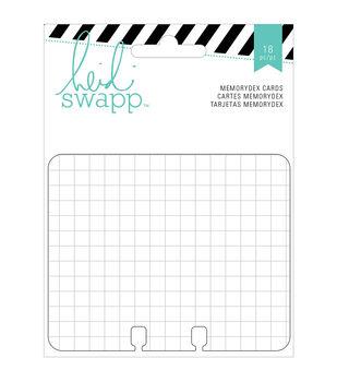 Memorydex Cards 18/Pkg-Wanderlust Grid, Line & Ledger/6 Each