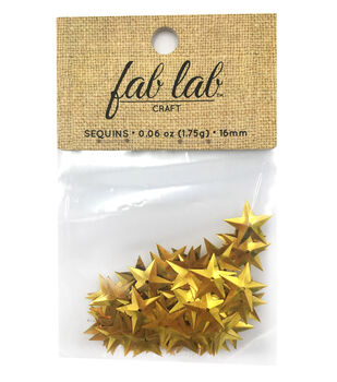 Sequin Star Gold