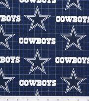 Dallas Cowboys NFL Plaid Flannel Fabric, , hi-res