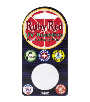 Ruby Red Face Paint .14oz-UV White