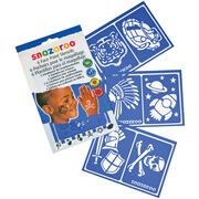 Snazaroo Face Painting Stencils 6/Pkg-Boys' Adventure, , hi-res