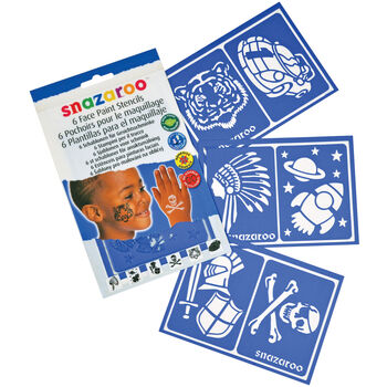 Snazaroo Face Painting Stencils 6/Pkg-Boys' Adventure