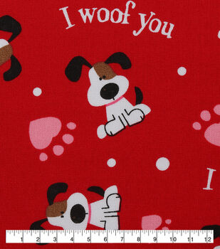 Holiday Inspirations Utility Fabric I Woof You