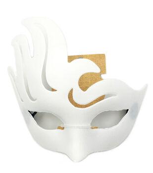 PVC Fancy Mask -Matte White