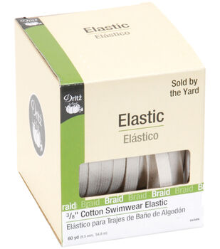 Cotton Swimwear Elastic 60 yds-Natural