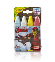 Crayola 4ct Sidewalk Chalk-Iron Man, , hi-res