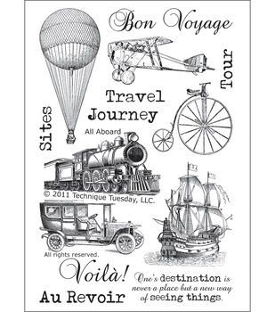 """Technique Tuesday Clear Stamps 4""""X6""""-All Aboard"""