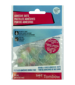 Tombow Double-Sided Clear Pastel Adhesive Dots