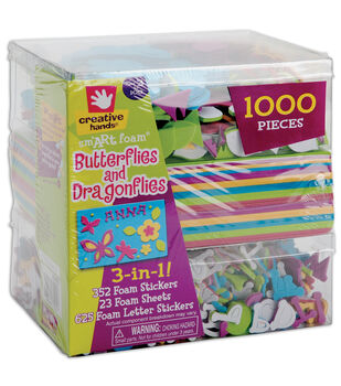 Fibre Craft 3-In-1! Foam Kit-Butterflies & Dragons