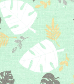 Nursery Fabric - Monkey Leaves