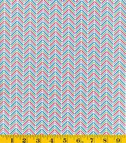 Made In America Cotton Fabric-Chevron Blue, , hi-res