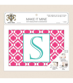 Truly Yours™ Needlepoint 7x10 Pink Geo