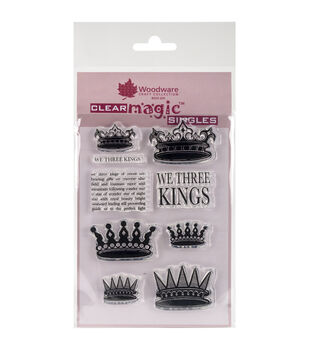 Woodware Craft Collection Clear Magic Stamp-We Three Kings