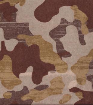 Snuggle Flannel Fabric-Brown Camo