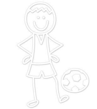 Plaid® Me&My Peeps Family Auto Decal-Soccer Boy
