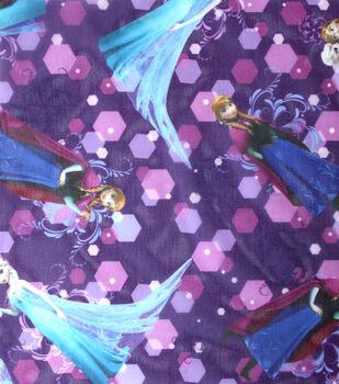 Disney Frozen Sisters Forever Purple Toss Sheer Fabric