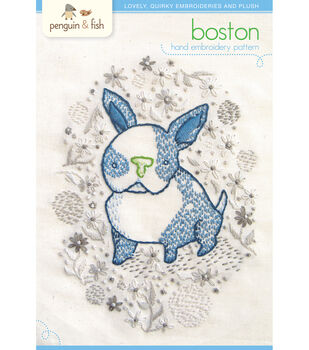 Penguin & Fish Embroidery Patterns-Boston