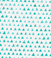Keepsake Calico™ Cotton Fabric-Turquoise Shaded Triangle, , hi-res