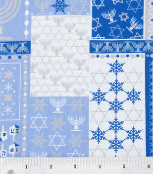 Holiday Inspirations-Hanukkah Patch Fabric