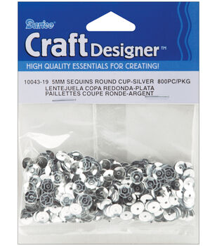 Darice Cupped Sequins 5mm 800/Pkg