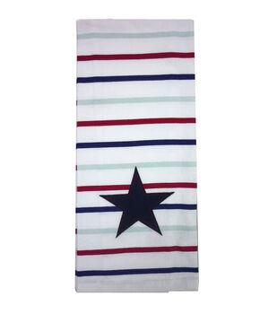 Sea To Shining Sea Flour Sack Hand Towel-Burlap Star