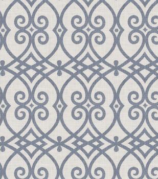 Jaclyn Smith Upholstery Fabric-Gatework Rot/Indigo