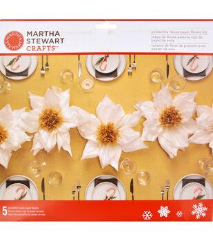 Martha Stewart Crafts Holiday Lodge Tissue Paper Flower Kit