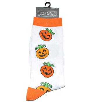 Maker's Halloween Socks-Vertical Pumpkins Crew