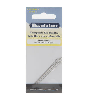 "Collapsible Eye Needles 2.5"" 4/Pk-Heavy"