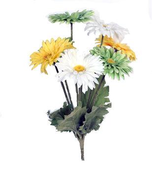 Blooming Spring 17'' Gerbera Daisy Bush-Yellow, Green & White