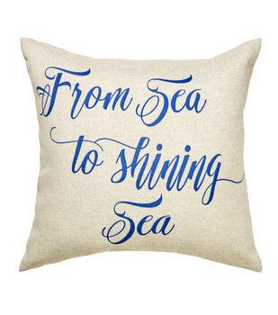 Sea to Shining Sea Sea To Sea Blue Pillow