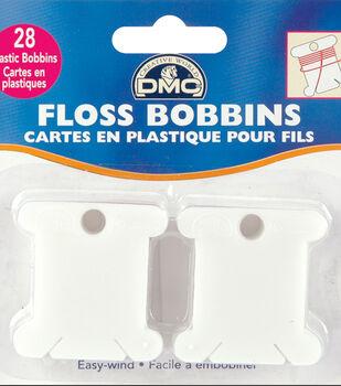 Plastic Floss Bobbins- 28/Pkg